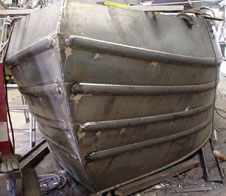 Narrowboat or canal boat steel shells and hulls